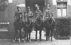 Family History Photo of the Week Winner (11 December 2015): Sgt James Ira Mills and fellow soldiers in WWI