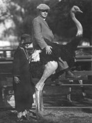 Family History Photo of the Week Winner (23 October 2015): Art and Olga Scotness riding an Ostrich