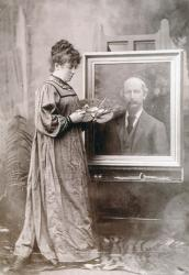 Family History Photo of the Week Winner (6 November 2015): H B Norris painting portrait of Swinburne