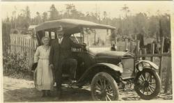Family History Photo of the Week Winner (15 January 2016): Karl with car and wife