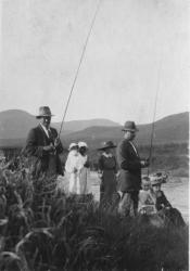 Family History Photo of the Week Winner (17 Jun 2016): Rupert Groom far left with Trout Fishing Group