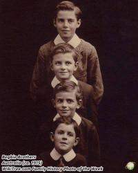 Family History Photo of the Week Winner (14 April 2017): Four sons of Herbert and Emily Begbie.