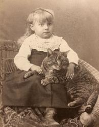 Family History Photo of the Week (9 Feb 2018): Olive and her cat