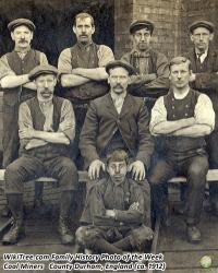 Family History Photo of the Week Winner: Coal miners at Washington F Pit (circa 1912)