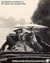 Family History Photo of the Week (26 Jan 2018): Jack Gladstone on the river