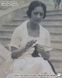 Family History Photo of the Week (4 June 2018): Emma Hercelles