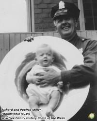 Family History Photo of the Week Winner (6 May 2017): Richard Clark with PopPop William Miller