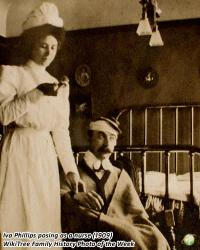 Family History Photo of the Week Winner (2 June 2017): Iva posing as a nurse with a patient