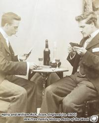 Family History Photo of the Week (9 March 2018): Harry and William Rich playing cards