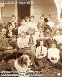 Family History Photo of the Week (17 November 2017): Elmer Walker and his Family at a Gathering