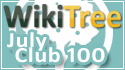 WikiTree Club 100 July