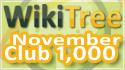WikiTree Club 1000 November