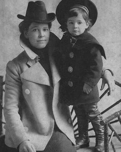 Sally McGhie and her nephew