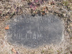 brothers, George Edward Wing and William H Wing grave marker