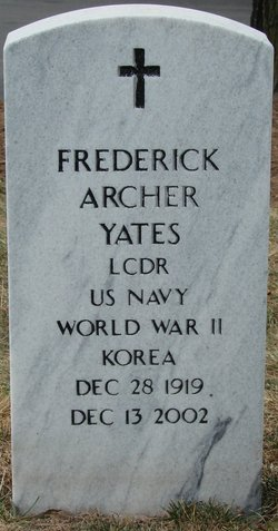 Headstone - Frederick Archer Yates, Jr.
