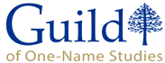 Guild of One-Name Studies Logo, Small Web Badge