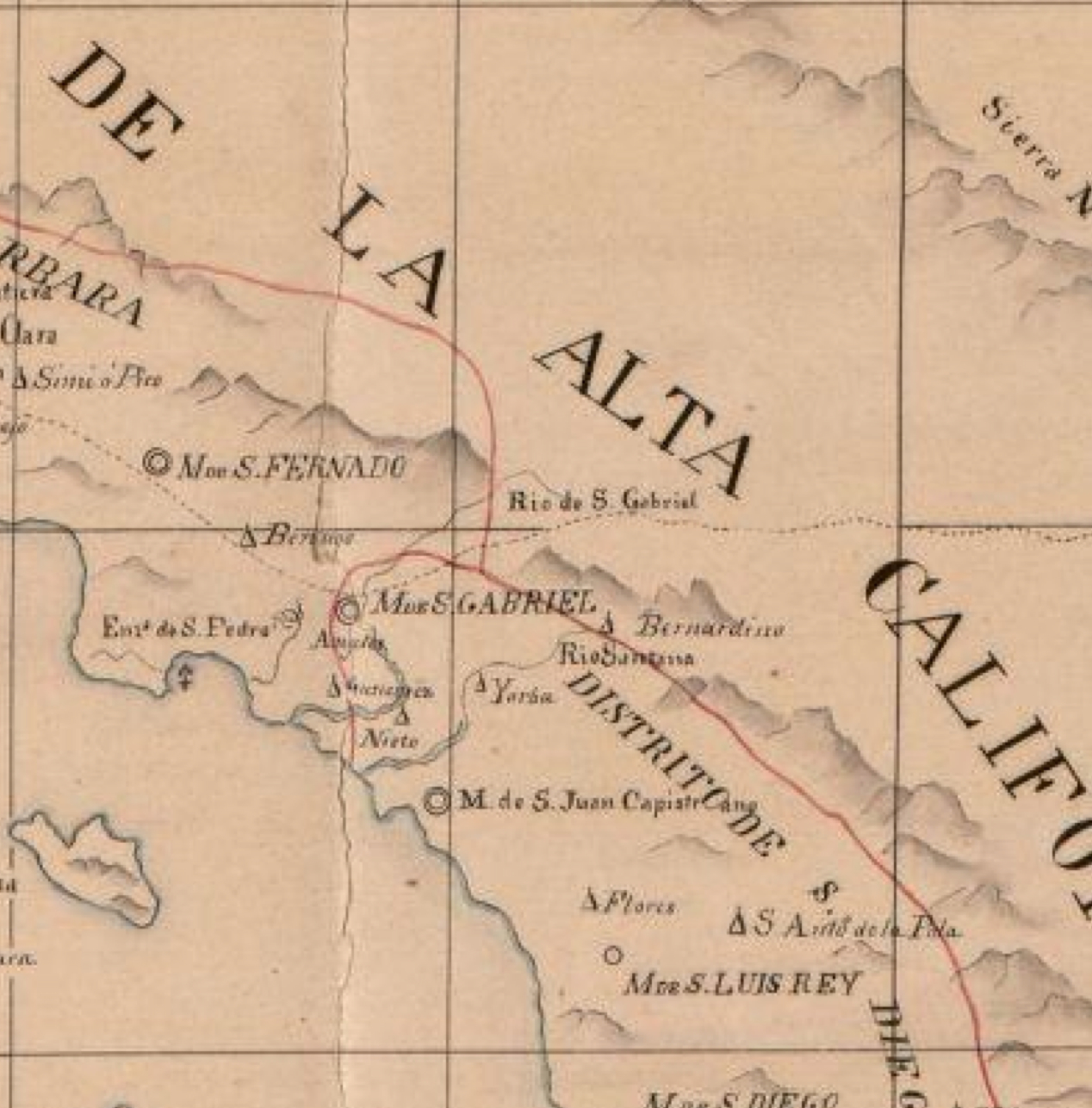 Alta California Map