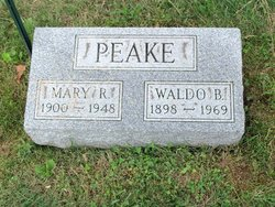 Mary Robinson and Waldo Peake Gravestone
