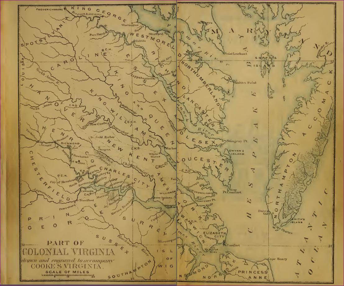 Virginia Colony Map