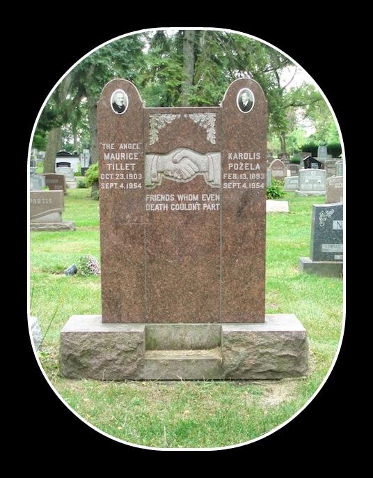gravestone of Karl Pojello and Maurice Tillet
