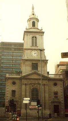 St. Botolph's, Bishopsgate where Eliza Rickards (Hall) was baptised