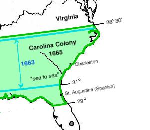 The Carolina Colony Grants Of 1663 And 1665