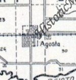 1910 Map, uses Agosta, not New Bloomington