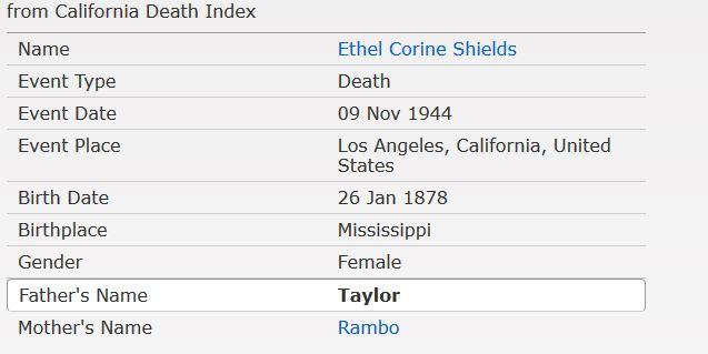 Ethel Death