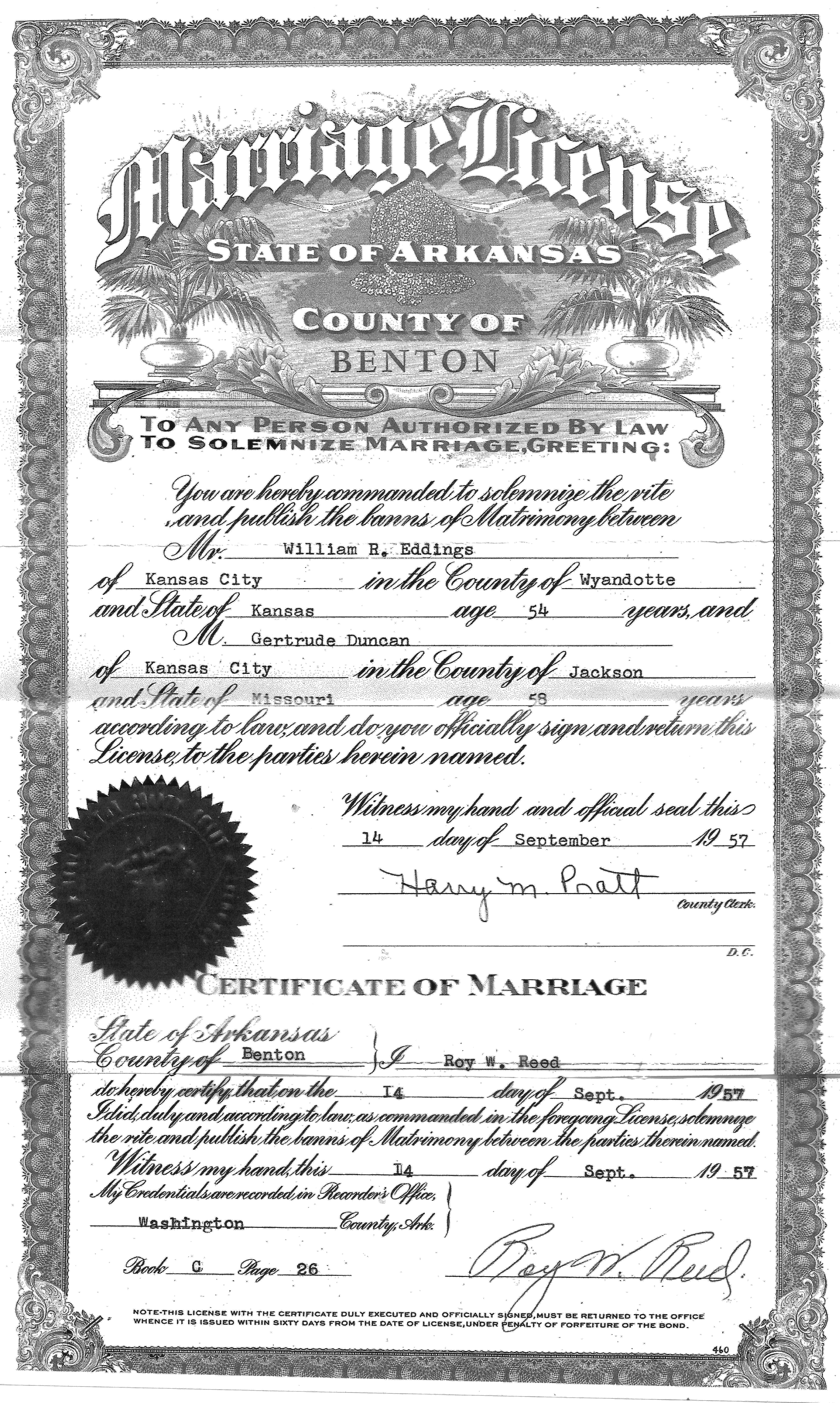 Washington County Marriage & Divorce Records - County Courts