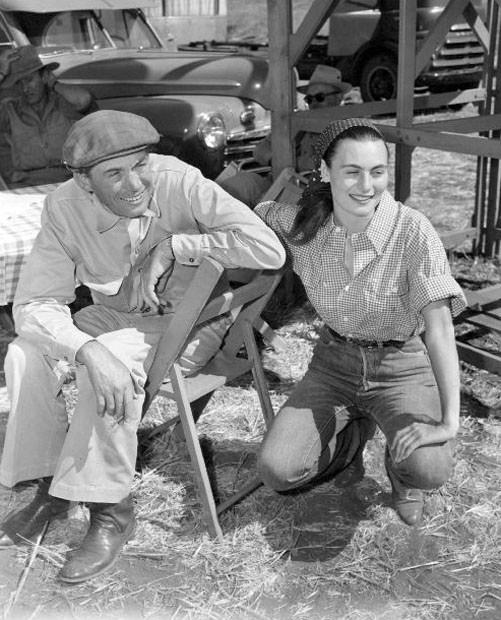 John Huston and Enrica Soma