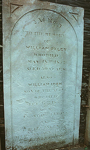 William Oxley Headstone, Mudgee Pioneer Park. Also wife and son.