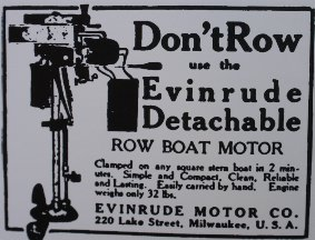 Early Evinrude Motor AD
