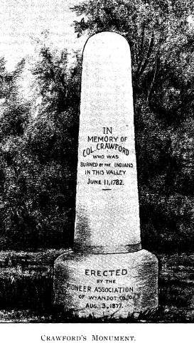 Memorial erected to Col. William Crawford
