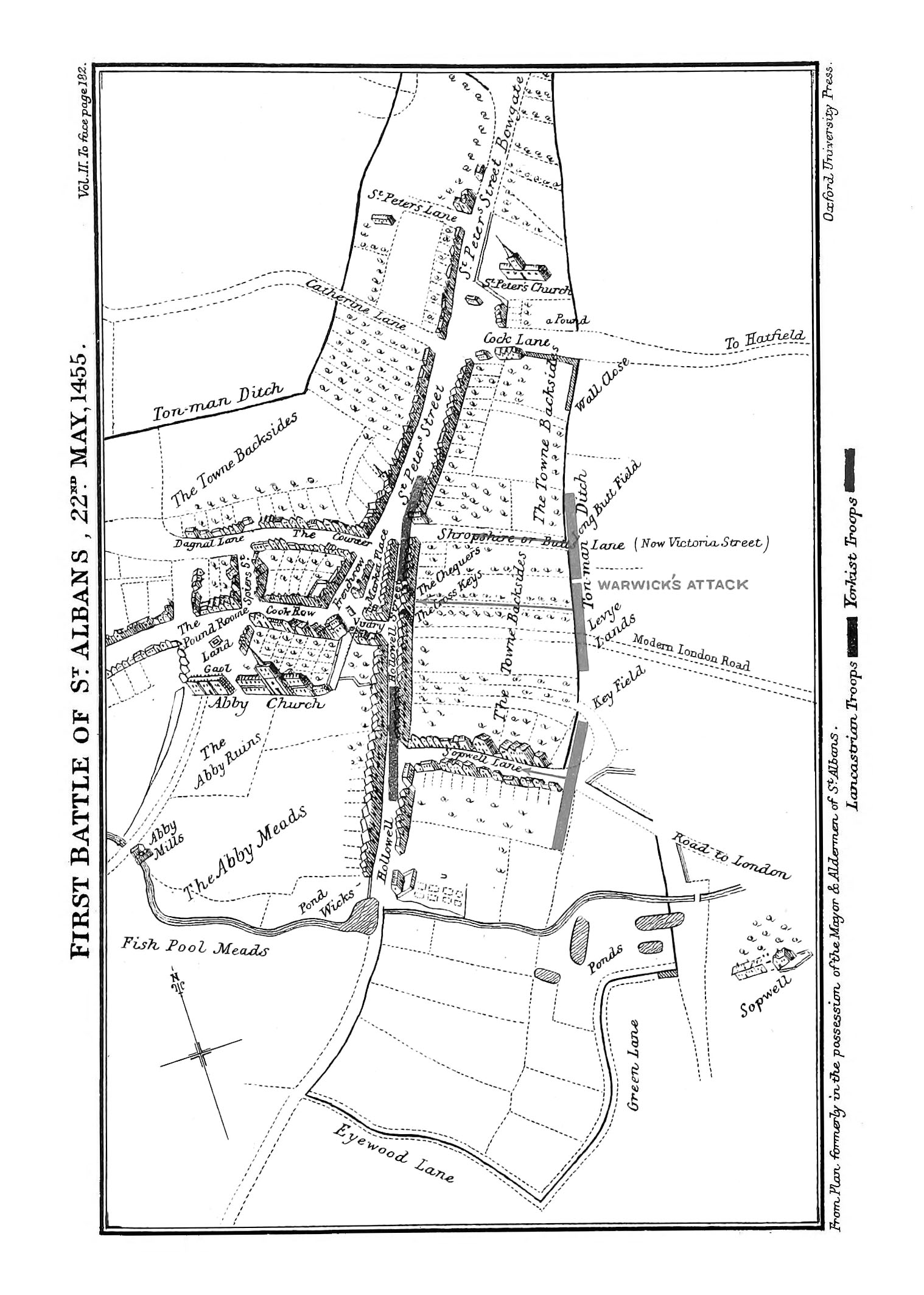 Battle Map of St. Albans