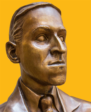 Bronze bust of H.P. Lovecraft