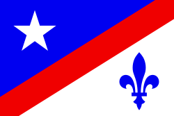 United States of America, French Canadian and French Louisiana, Historical Representation Francho Flag