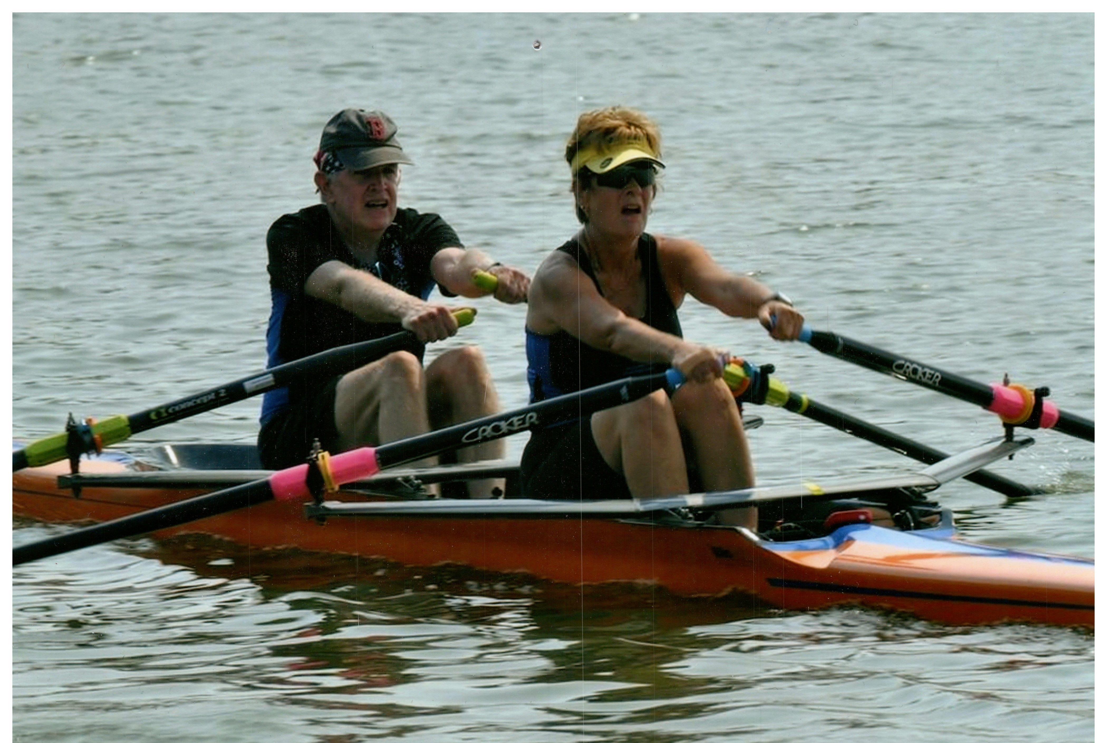 Linda and Ray racing on the Oklahoma River