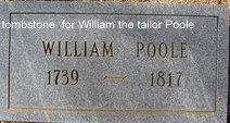 Wm Poole (believed to be Wm the tailor Poole)