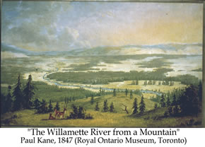 The WIllamette River from a Mountain by Paul Kane