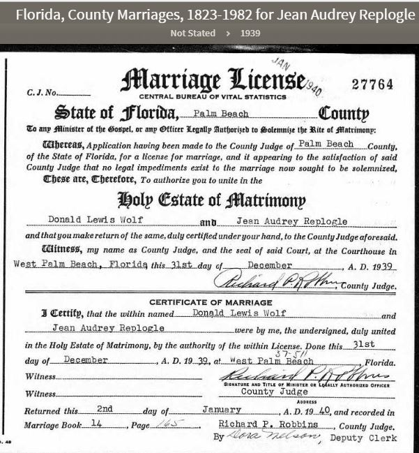 palm beach florida marriage and divorce records