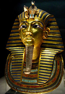 Mask of Tutankhamun's mummy,