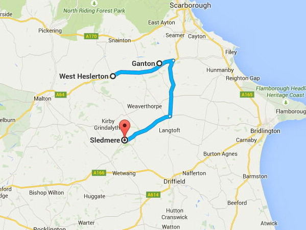 West Heslerton, Ganton, Sledmere, Driffield & Hunmanby in Yorkshire