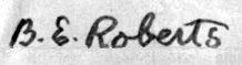Signature of Bennie Roberts