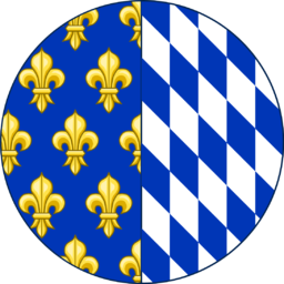 Coat of arms (round shield) of Isabeau of Bavaria