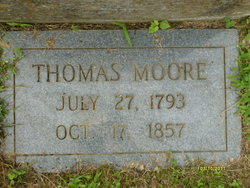 Thomas Moore newer tombstone