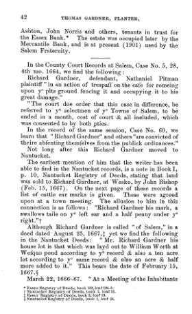 Thomas Gardner, Planter; page 42