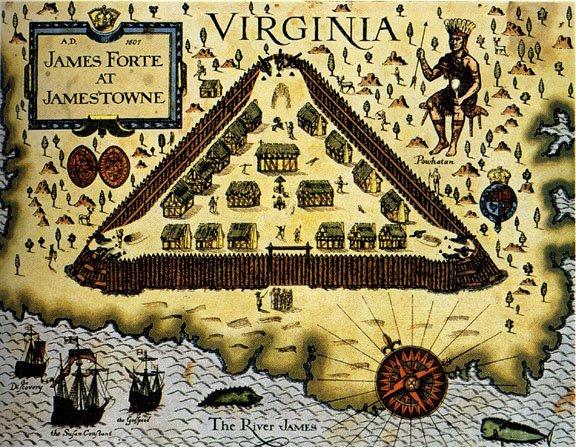Fort James, Jamestown, Virginia map