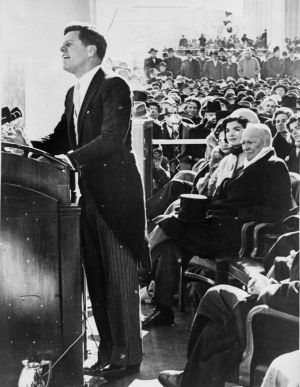 President Kennedy delivers inaugural address