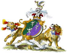 The coat of arms of the Earls of Carnarvon (Herbert family)