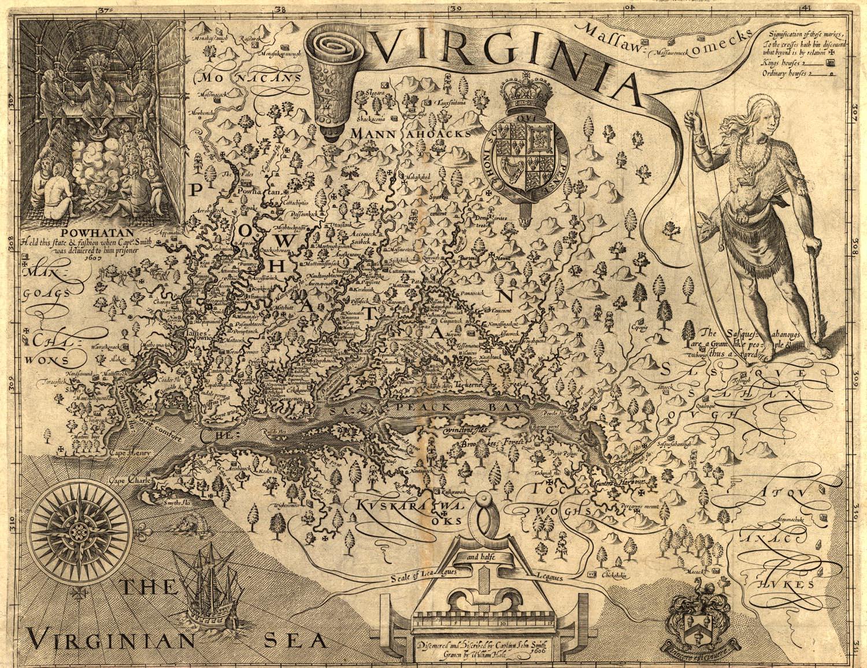 Captain Smith\'s Map of Virginia